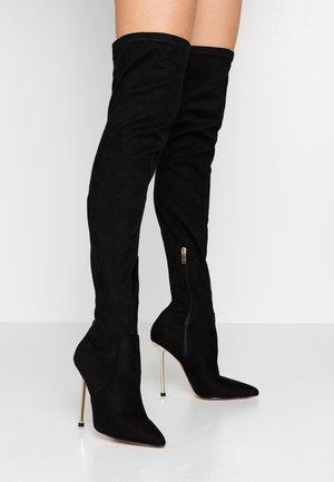 SAFFIRE - Boots med høye hæler - black