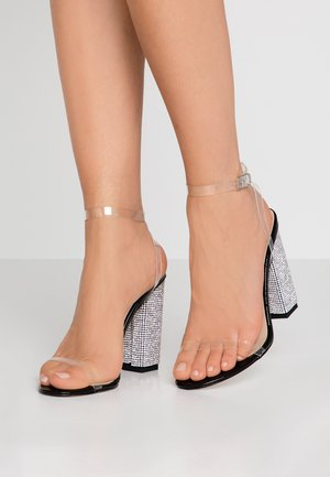 LIMA - High heeled sandals - clear/ black