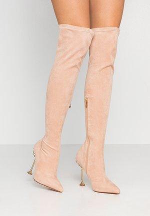 VIXIE - High heeled boots - nude