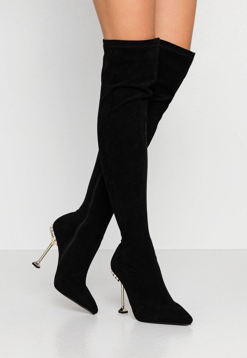 BEBO - VIXIE - Kozačky na vysokém podpatku - black