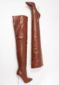 BEBO - DELTA - Kozačky na vysokém podpatku - tan - 3
