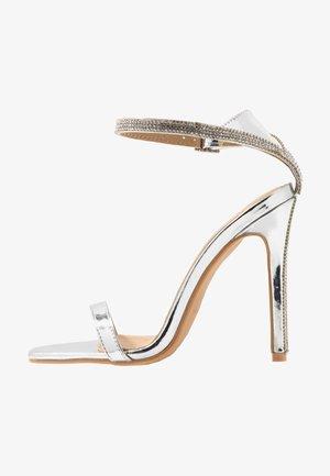 LYLIE - High heeled sandals - silver metallic