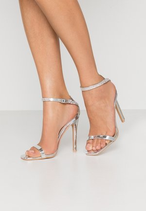 LYLIE - High heeled sandals - silver metallic