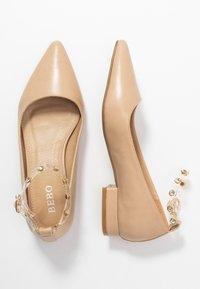 BEBO - LEON - Ankle strap ballet pumps - nude - 3