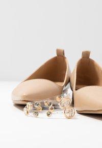 BEBO - LEON - Ankle strap ballet pumps - nude - 7