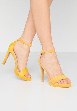 CIMONA - Sandales à talons hauts - yellow