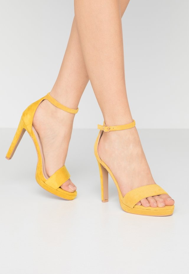 CIMONA - Sandály na vysokém podpatku - yellow