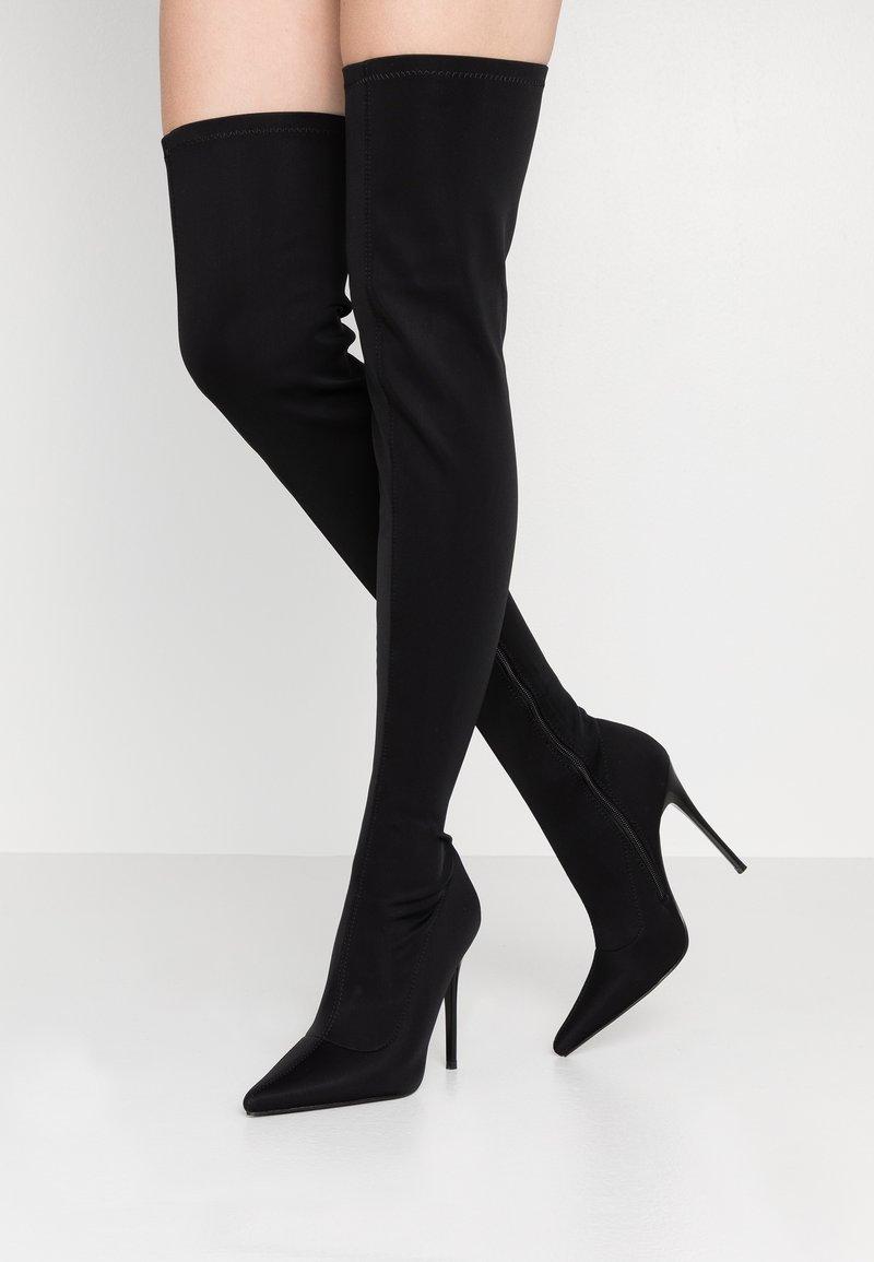 BEBO - OLENYA - Kozačky na vysokém podpatku - black