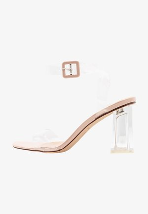 LEAH - High heeled sandals - clear/nude