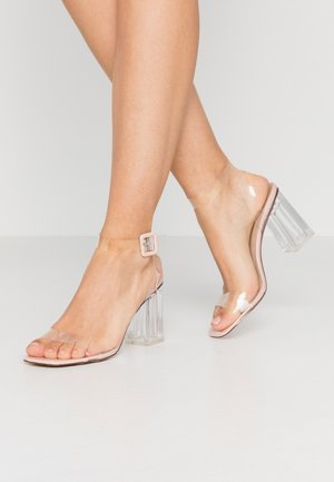 LEAH - Sandalen met hoge hak - clear/nude
