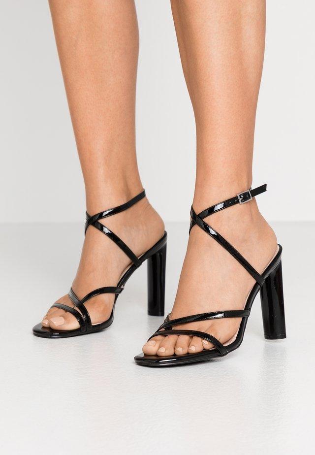 PETAL - Sandalen met hoge hak - black