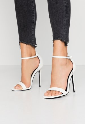 ALARA - High heeled sandals - white