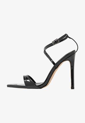 SKITTLE - High heeled sandals - black