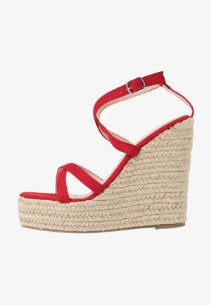 FARRAH - High heeled sandals - red