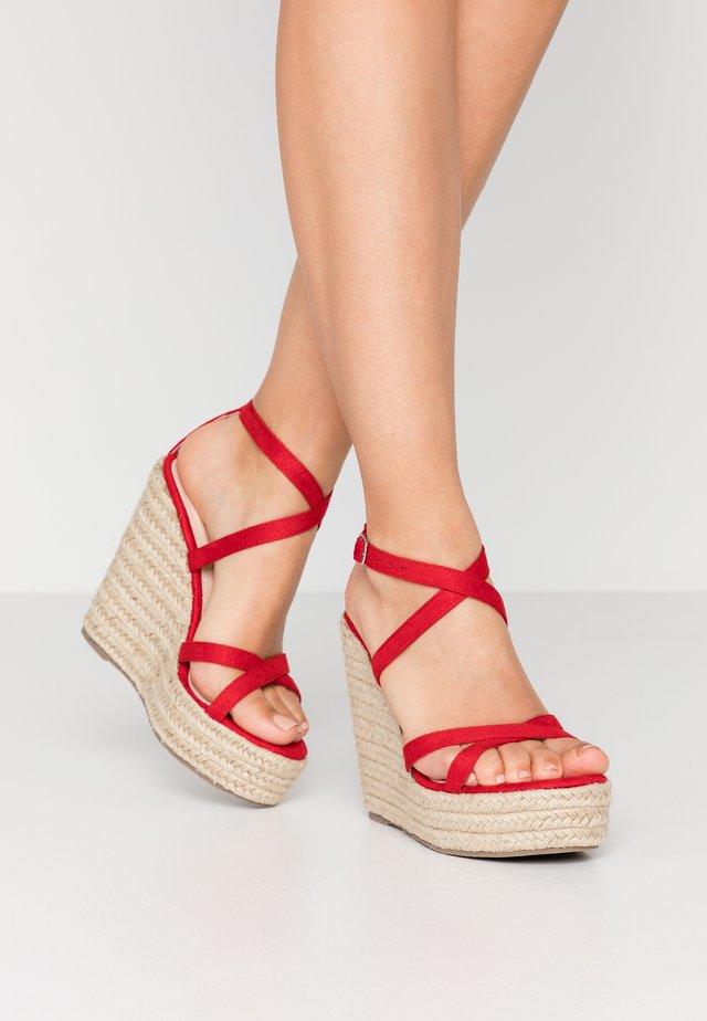 FARRAH - Sandaler med høye hæler - red