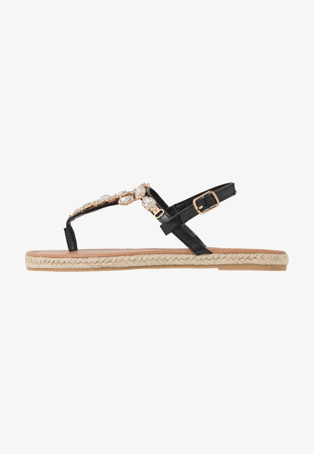 LAILAH - T-bar sandals - black