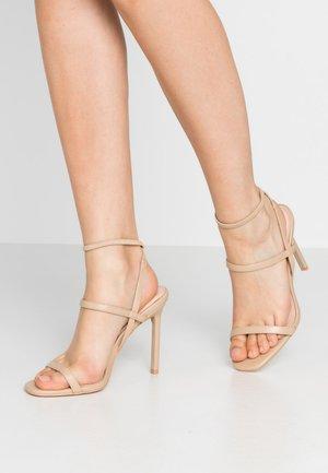 Sandalen met hoge hak - nude