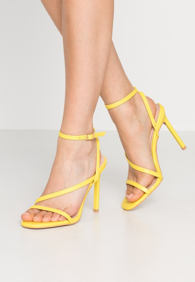 HAMPTON - High Heel Sandalette - yellow