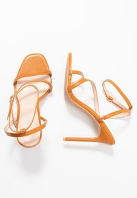 BEBO - HAMPTON - High heeled sandals - dark coral pu - 3