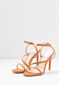 BEBO - HAMPTON - High heeled sandals - dark coral pu - 4