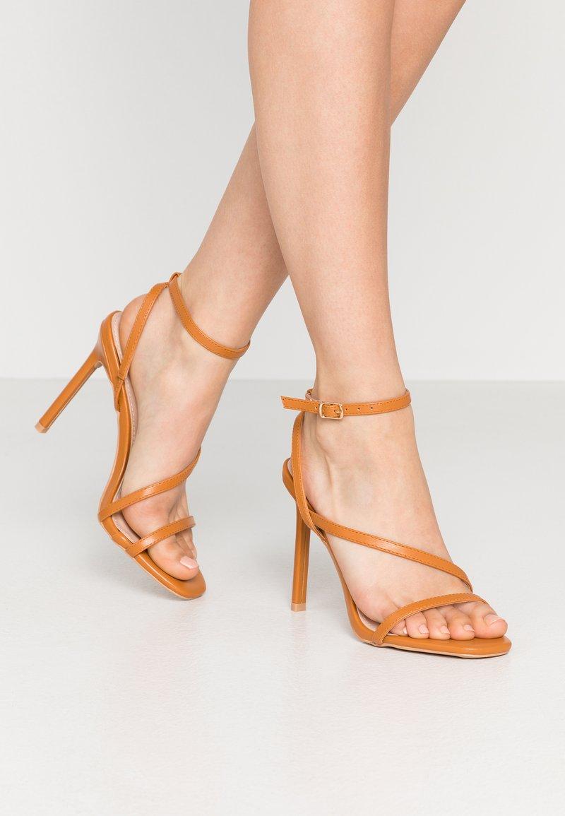 BEBO - HAMPTON - High heeled sandals - dark coral pu