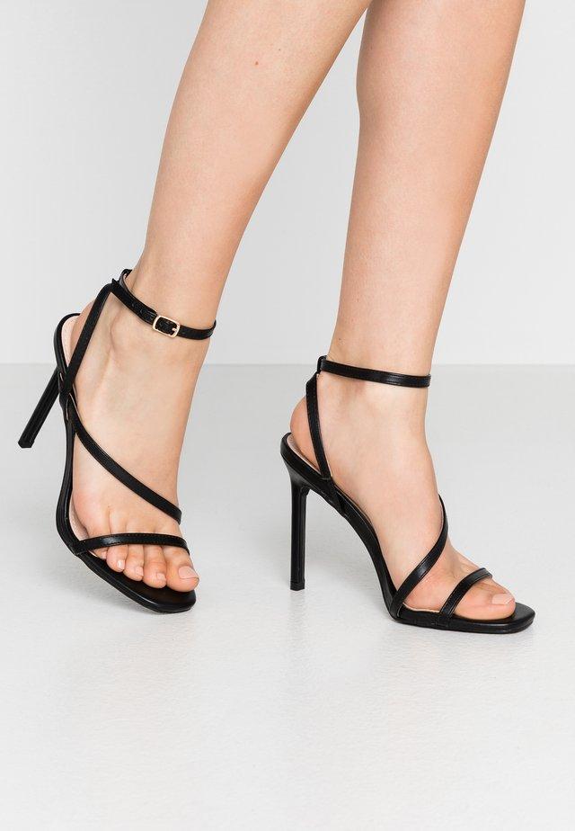 HAMPTON - Sandalen met hoge hak - black