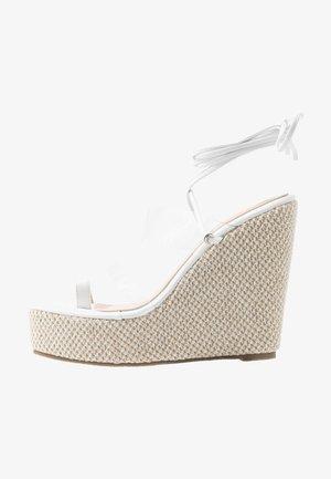 PERSIA - Sandalen met hoge hak - clear/white