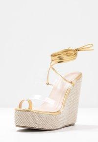 BEBO - PERSIA - Sandály na vysokém podpatku - clear/gold - 4