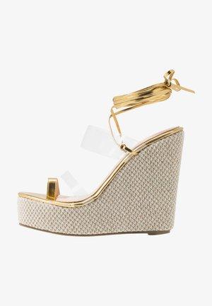 PERSIA - Sandales à talons hauts - clear/gold