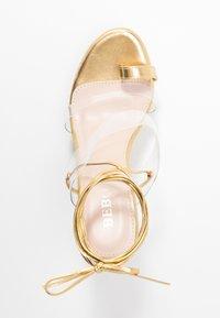 BEBO - PERSIA - Sandály na vysokém podpatku - clear/gold - 3