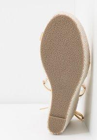 BEBO - PERSIA - Sandály na vysokém podpatku - clear/gold - 6
