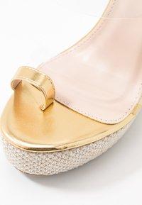 BEBO - PERSIA - Sandály na vysokém podpatku - clear/gold - 2