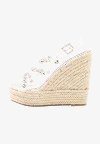 BEBO - VILLA - Sandaler med høye hæler - clear/silver - 1