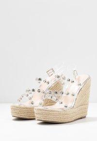 BEBO - VILLA - Sandaler med høye hæler - clear/silver - 4