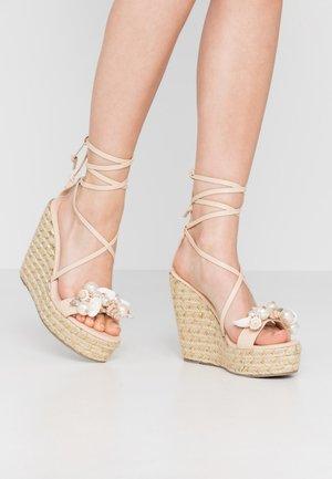 RIAN - Sandály na vysokém podpatku - nude
