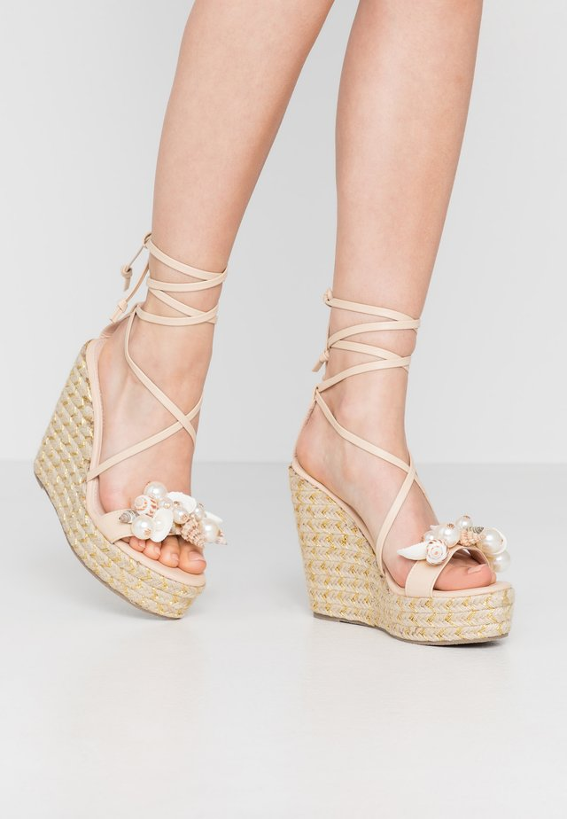 RIAN - High heeled sandals - nude