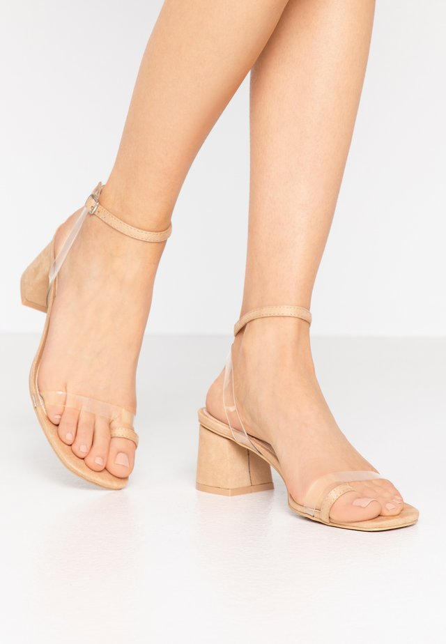ZENON - T-bar sandals - clear/nude