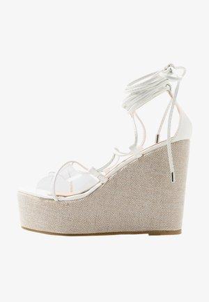 SANDIE - High heeled sandals - white