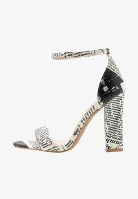 BEBO - INARA - Sandaler med høye hæler - black/white - 1