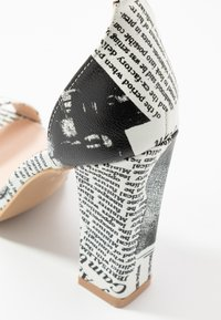 BEBO - INARA - Sandaler med høye hæler - black/white - 2
