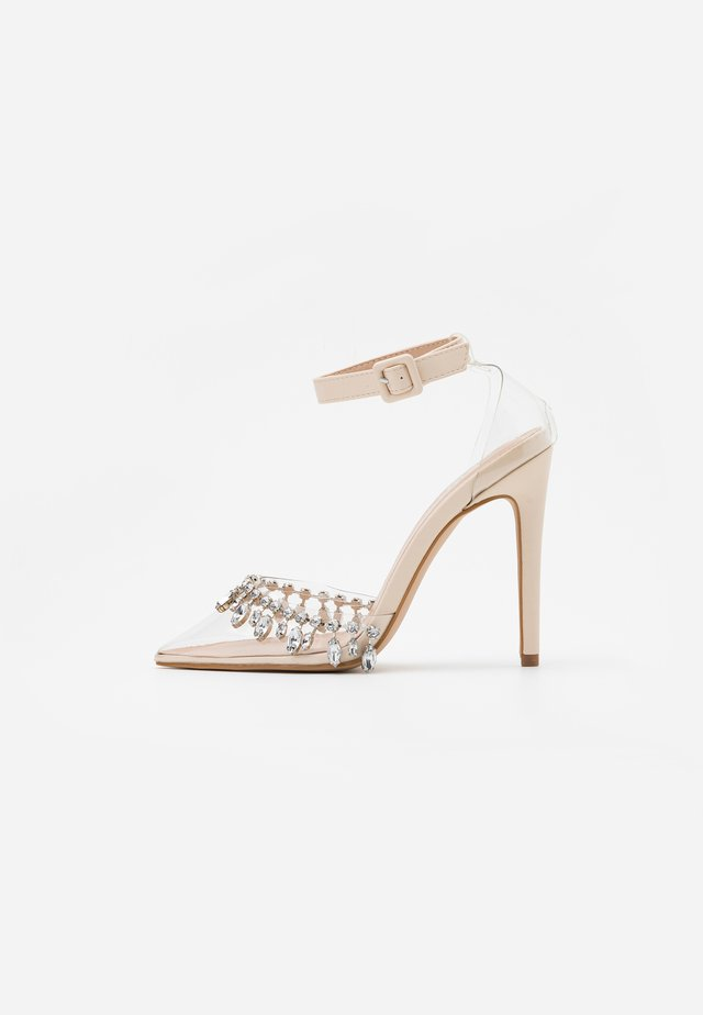 RASSEL - High heels - clear/nude