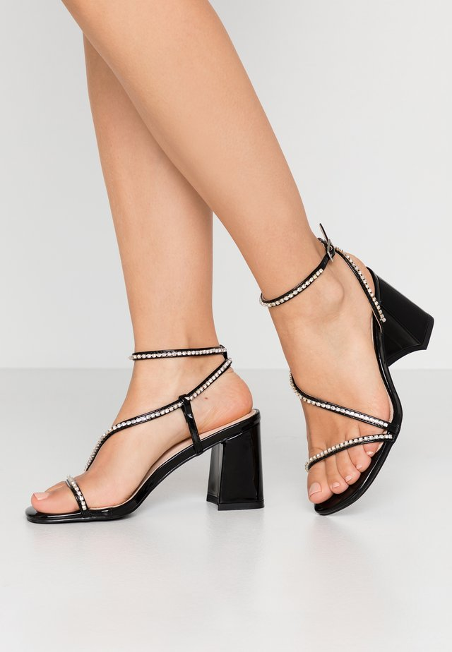 AMBROSE - High heeled sandals - black