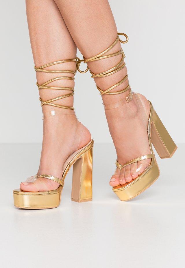 ARYA - Sandaler med høye hæler - clear/gold