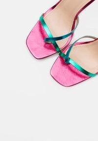 BEBO - TREVIA - Sandalias de tacón - pink/multicolor - 5