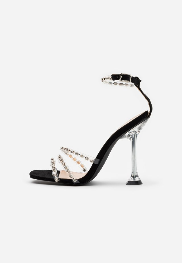SIYA - High heeled sandals - clear/black