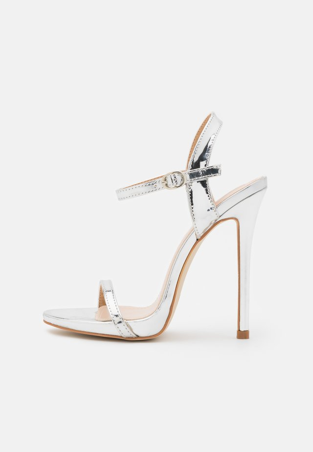 SPARRA - High heeled sandals - silver metallic