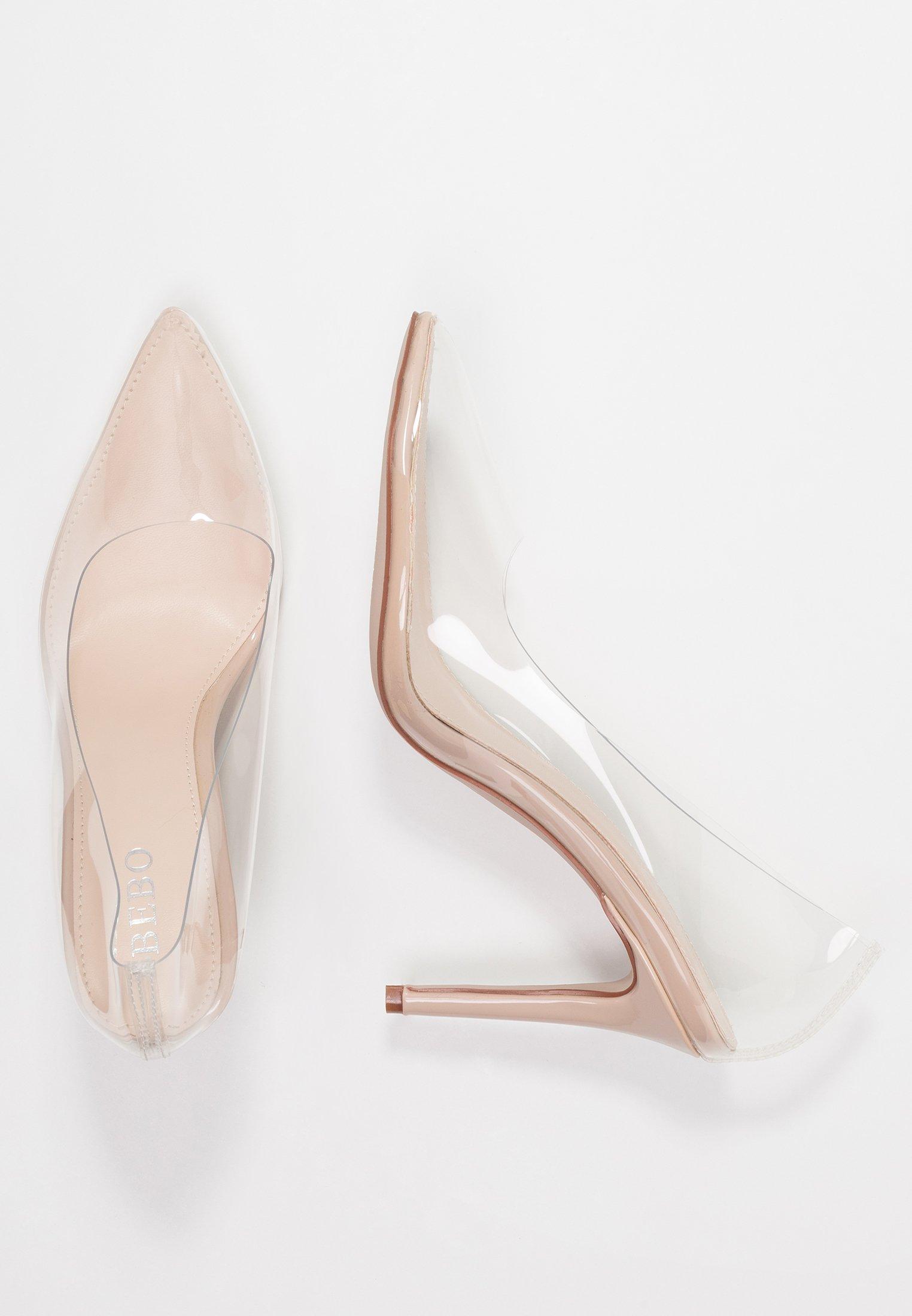 BEBO ELDA - High heels - clear/nude