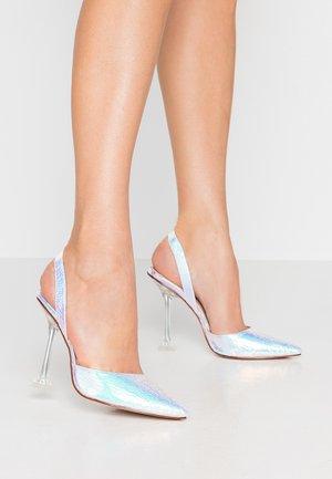 SIMONE - Zapatos altos - silver holographic