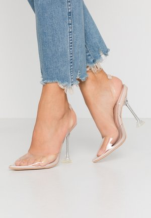 ANNA - Klassiska pumps - clear/nude