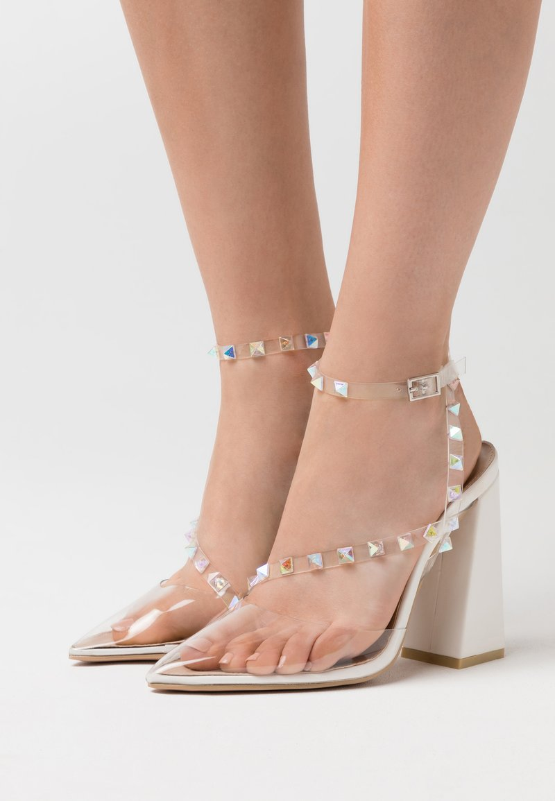 BEBO - RUHANA - Zapatos altos - clear/white